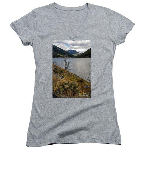 Quake Lake Women's V-Neck T-Shirt