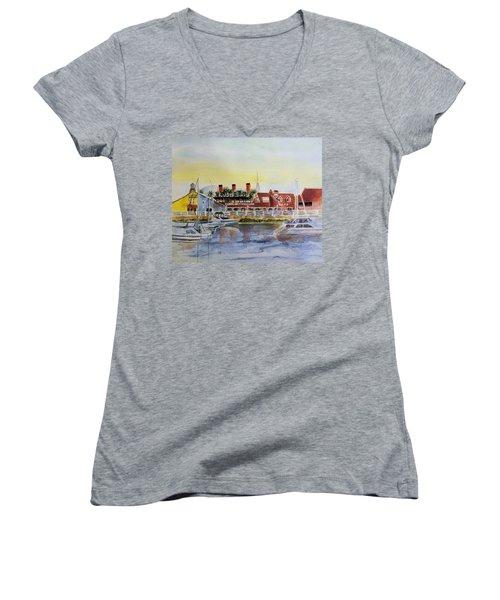 Queen Of The Shore Women's V-Neck T-Shirt (Junior Cut) by Debbie Lewis