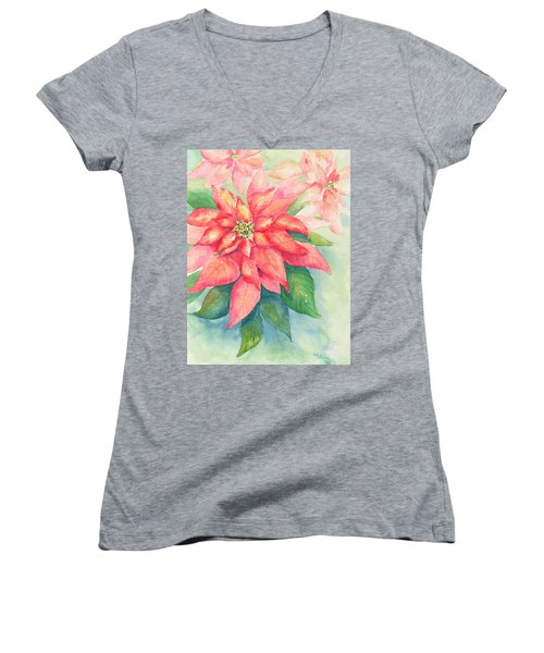 Queen Of The Show Women's V-Neck T-Shirt (Junior Cut) by Sandy Fisher