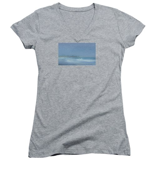 Foggy Afternoon At Little Compton Ri Women's V-Neck T-Shirt