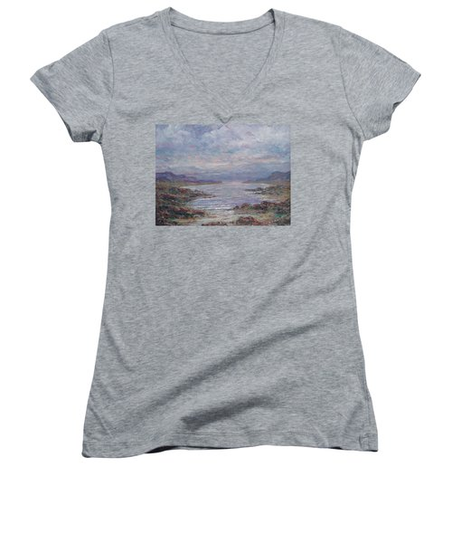 Quiet Bay. Women's V-Neck T-Shirt