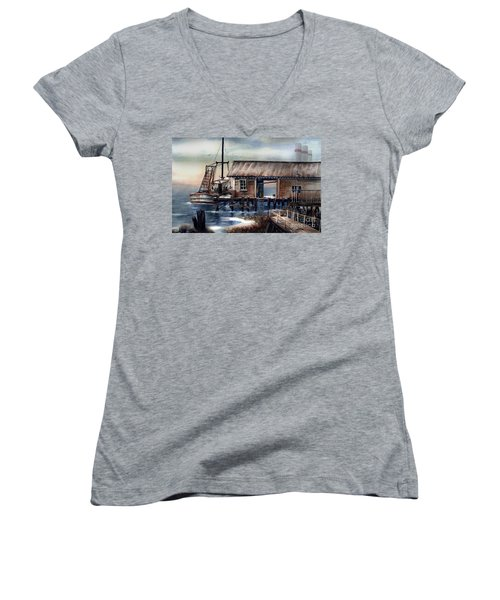 Quiet Pacific Dockside Women's V-Neck T-Shirt