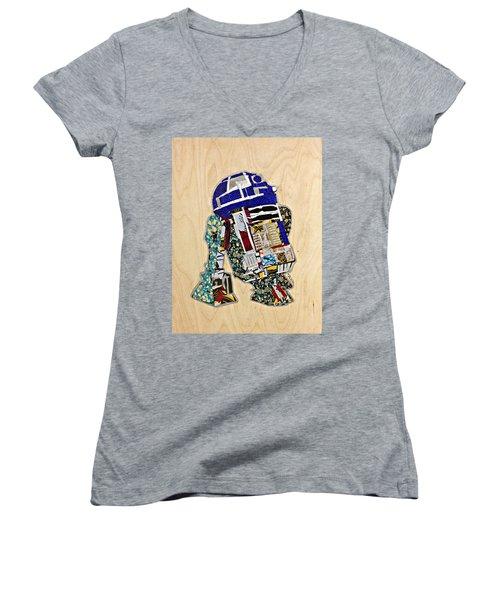 R2-d2 Star Wars Afrofuturist Collection Women's V-Neck