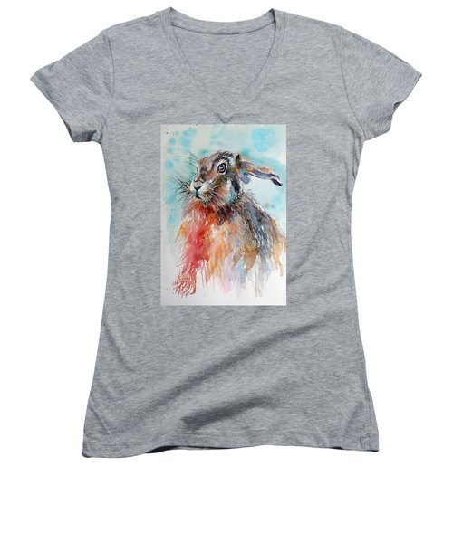 Rabbit Women's V-Neck T-Shirt (Junior Cut)