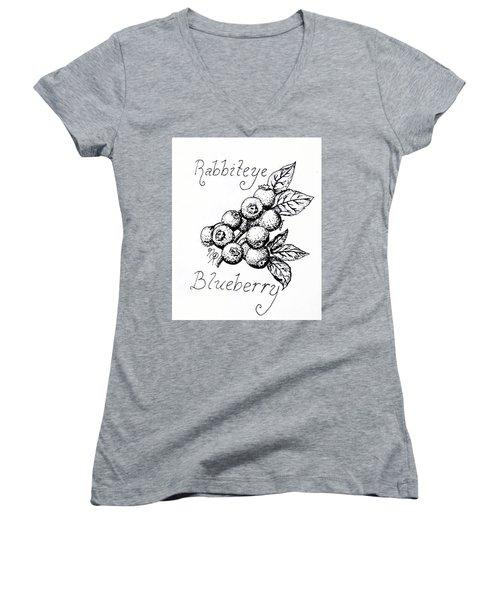 Rabbiteye Blueberry Women's V-Neck