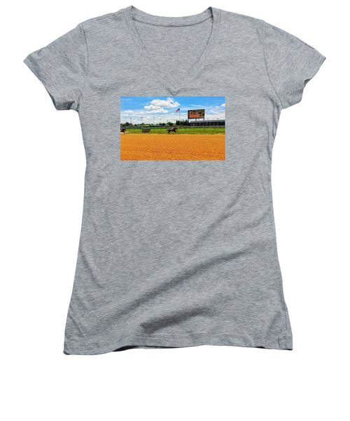 Race Day  Women's V-Neck (Athletic Fit)