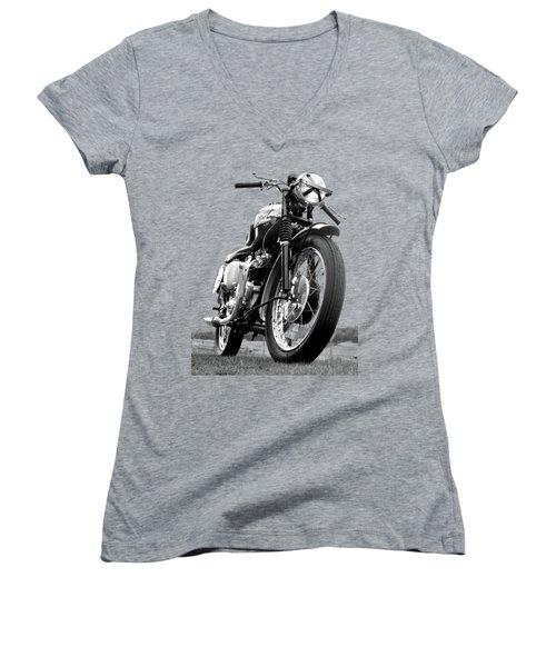 Race Day Women's V-Neck T-Shirt (Junior Cut) by Mark Rogan