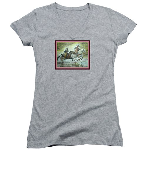 Racing Through The Water Women's V-Neck (Athletic Fit)