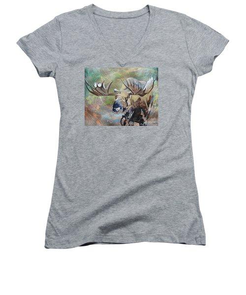 Rack And Roll Women's V-Neck T-Shirt (Junior Cut) by Stuart Engel