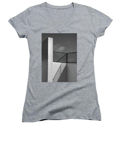 Women's V-Neck T-Shirt (Junior Cut) featuring the photograph Racquetball IIi  by Richard Rizzo