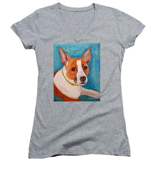 Radar  Women's V-Neck T-Shirt (Junior Cut) by Ania M Milo
