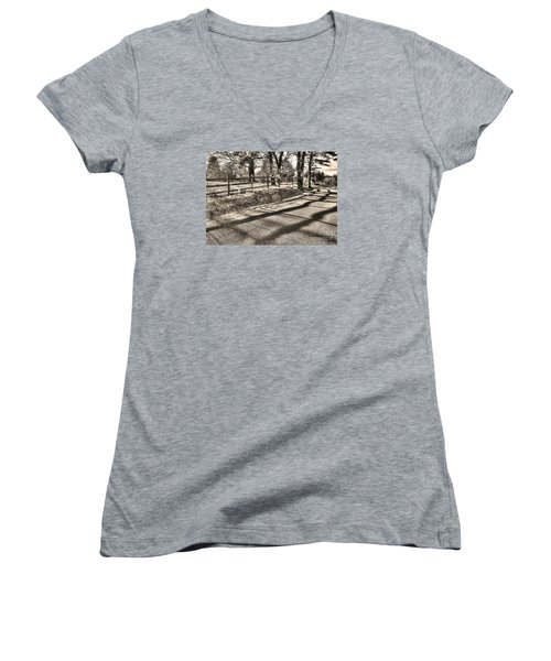 Women's V-Neck T-Shirt (Junior Cut) featuring the photograph Radiance by Betsy Zimmerli