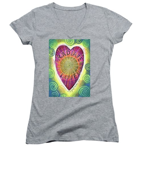 Radiate Love Women's V-Neck (Athletic Fit)