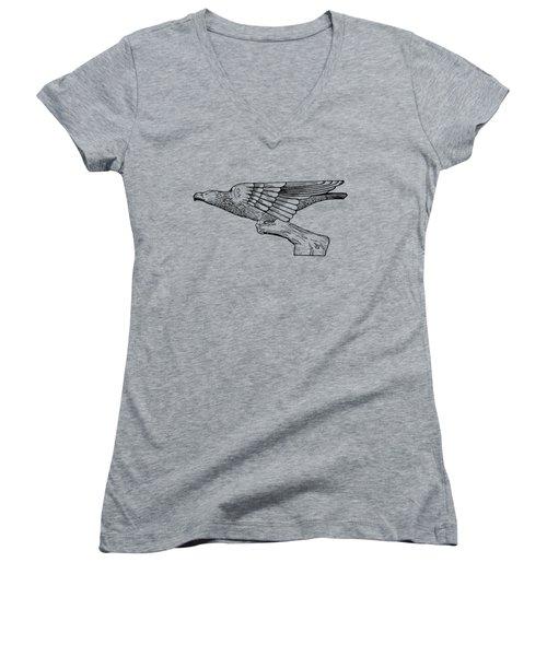 Radiator Cap Patent 1926 Women's V-Neck T-Shirt (Junior Cut) by Mark Rogan