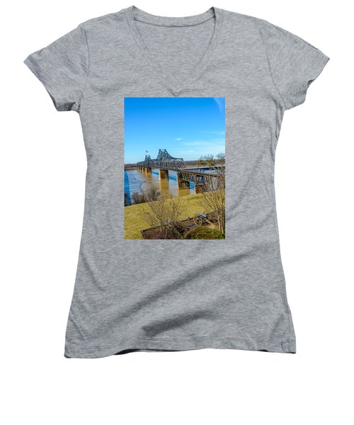 Rail Road Bridge Women's V-Neck T-Shirt