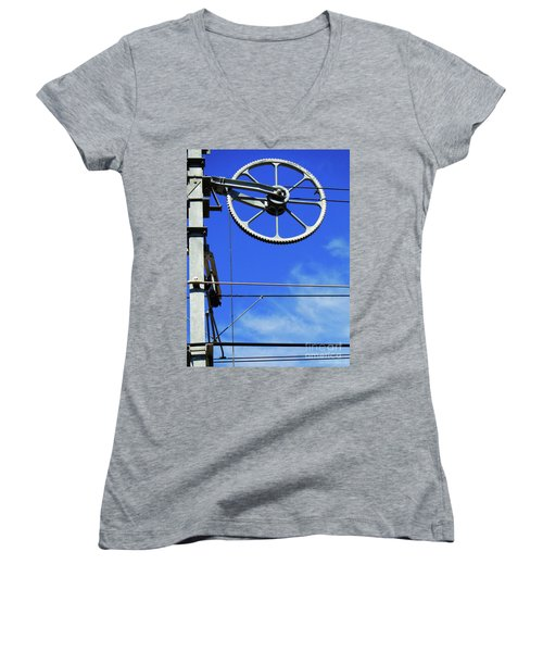 Railway Catenary Women's V-Neck T-Shirt