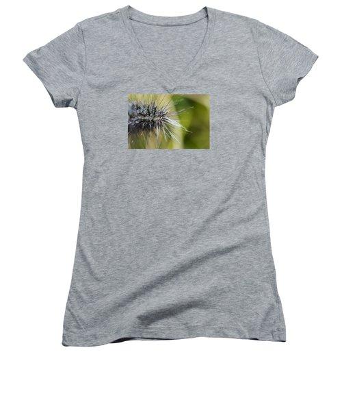 Rain Drops - 9760 Women's V-Neck T-Shirt (Junior Cut) by G L Sarti