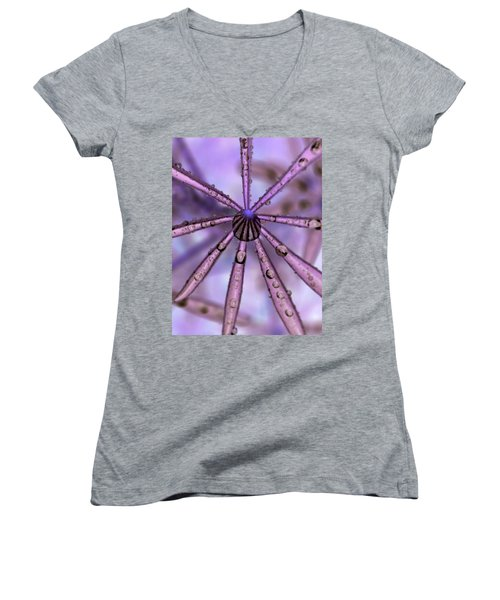 Rain Drops Women's V-Neck T-Shirt (Junior Cut)