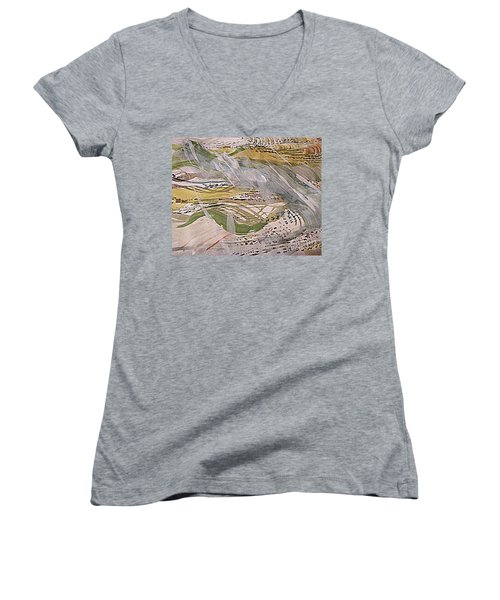 Rain In The  Valley Women's V-Neck (Athletic Fit)