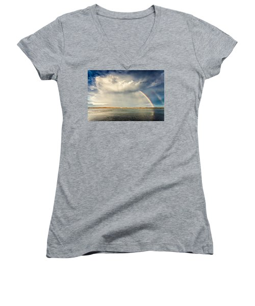 Rainbow Women's V-Neck