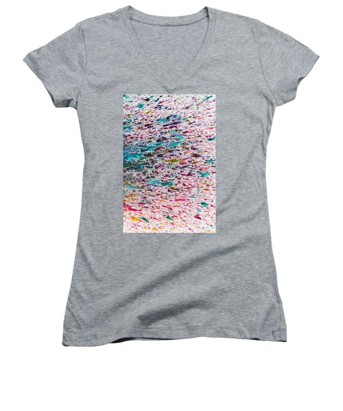 Rainbow Explosion Women's V-Neck