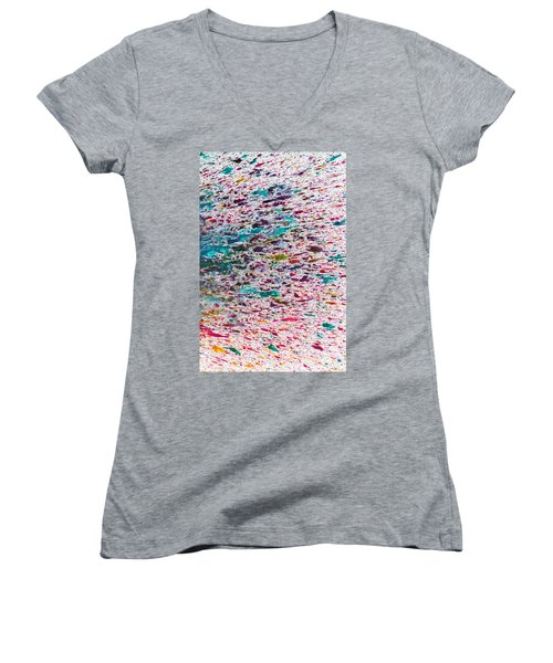 Rainbow Explosion Women's V-Neck (Athletic Fit)