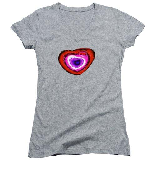 Rainbow Heart Women's V-Neck