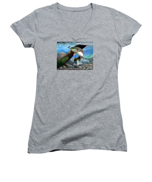 Rainbow Women's V-Neck T-Shirt