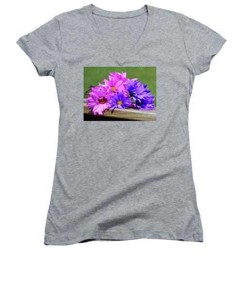 Rainbow Mums 2 Of 5 Women's V-Neck T-Shirt (Junior Cut) by Tina M Wenger