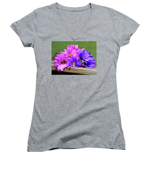 Rainbow Mums 2 Of 5 Women's V-Neck (Athletic Fit)
