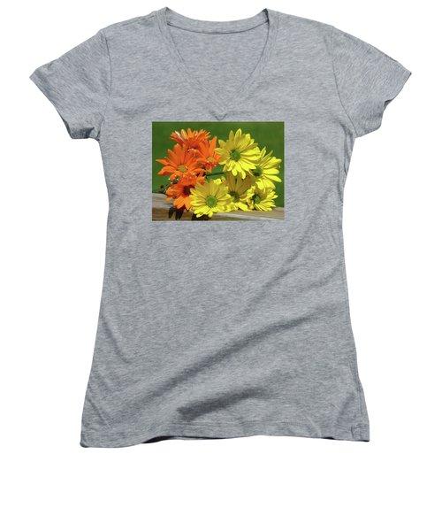 Rainbow Mums 4 Of 5 Women's V-Neck T-Shirt (Junior Cut) by Tina M Wenger