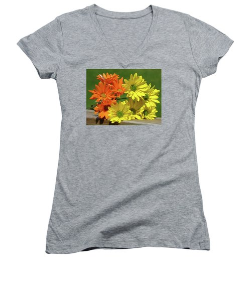 Rainbow Mums 4 Of 5 Women's V-Neck T-Shirt