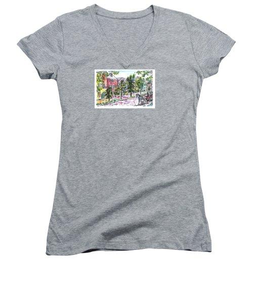 Rainbow Row Women's V-Neck T-Shirt
