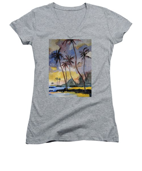 Rainbows Women's V-Neck T-Shirt (Junior Cut) by Ray Agius