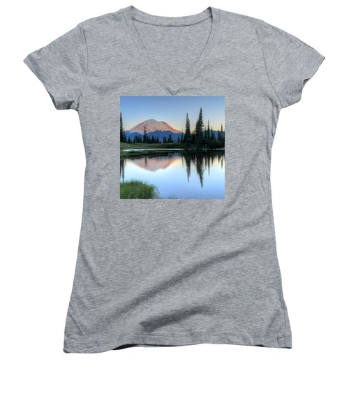 Rainier From Tipsoo Women's V-Neck (Athletic Fit)