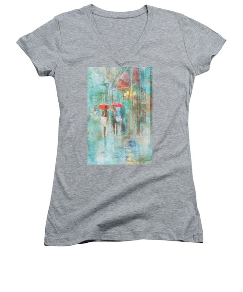 Rainy In Paris 4 Women's V-Neck T-Shirt