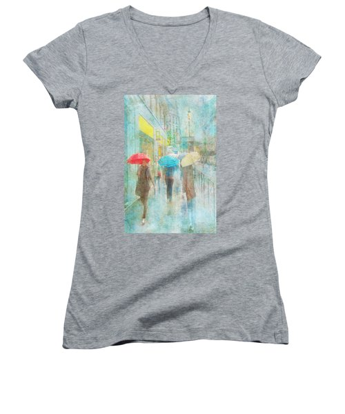 Rainy In Paris 5 Women's V-Neck