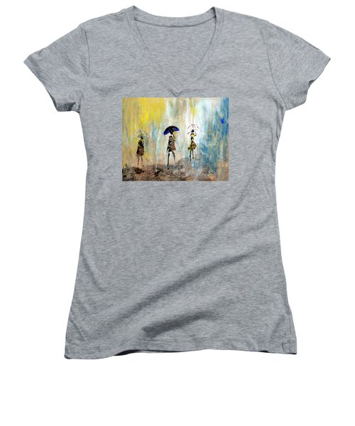 Rainydaywalk Women's V-Neck (Athletic Fit)