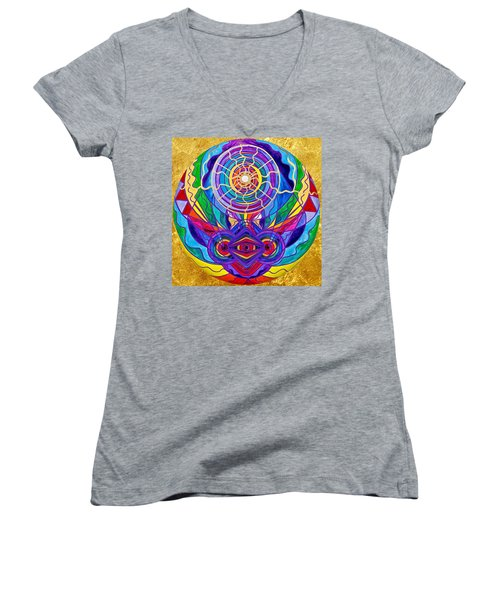 Raise Your Vibration Women's V-Neck (Athletic Fit)
