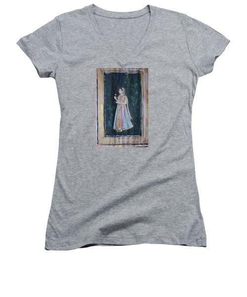 Raj Kumari Women's V-Neck T-Shirt (Junior Cut) by Vikram Singh
