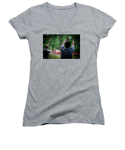Rally Fan Capture Women's V-Neck T-Shirt