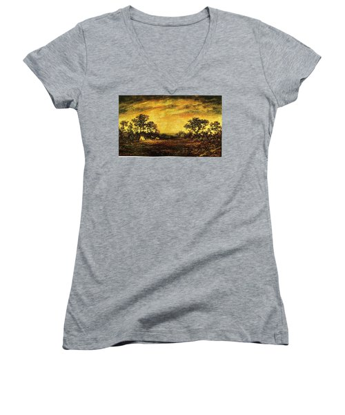 Ralph Blakelock, Indian Encampment Women's V-Neck
