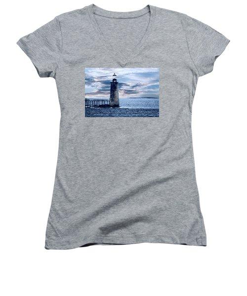 Ram Island Head Lighthouse.jpg Women's V-Neck