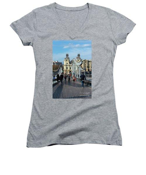 Rambla Del Mar Footbridge Women's V-Neck T-Shirt
