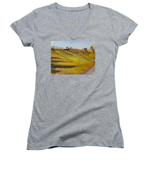 Ranch Entrance Women's V-Neck T-Shirt