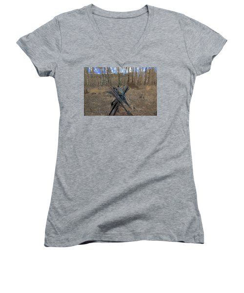 Ranch Fencing Women's V-Neck (Athletic Fit)