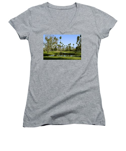 Rancho Mirage Golf Course Women's V-Neck T-Shirt