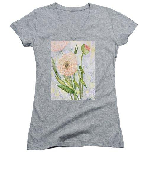 Ranunculus Women's V-Neck