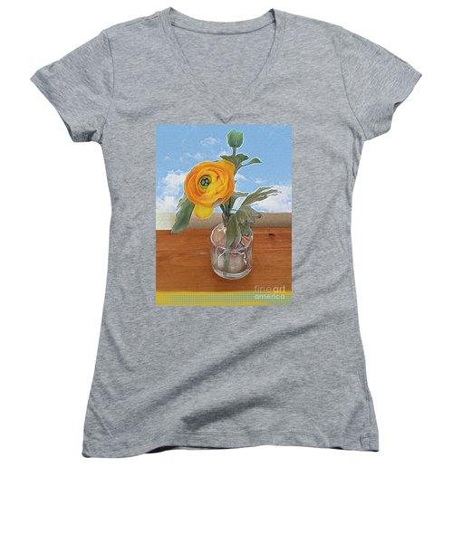 Ranunculus Spring Women's V-Neck T-Shirt