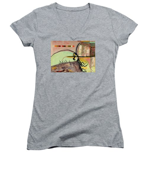 Rational Thought Begins Here Women's V-Neck T-Shirt